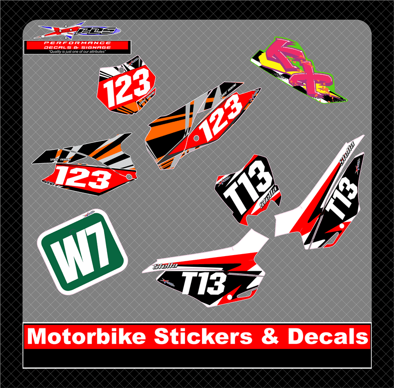 Home performance decals signage