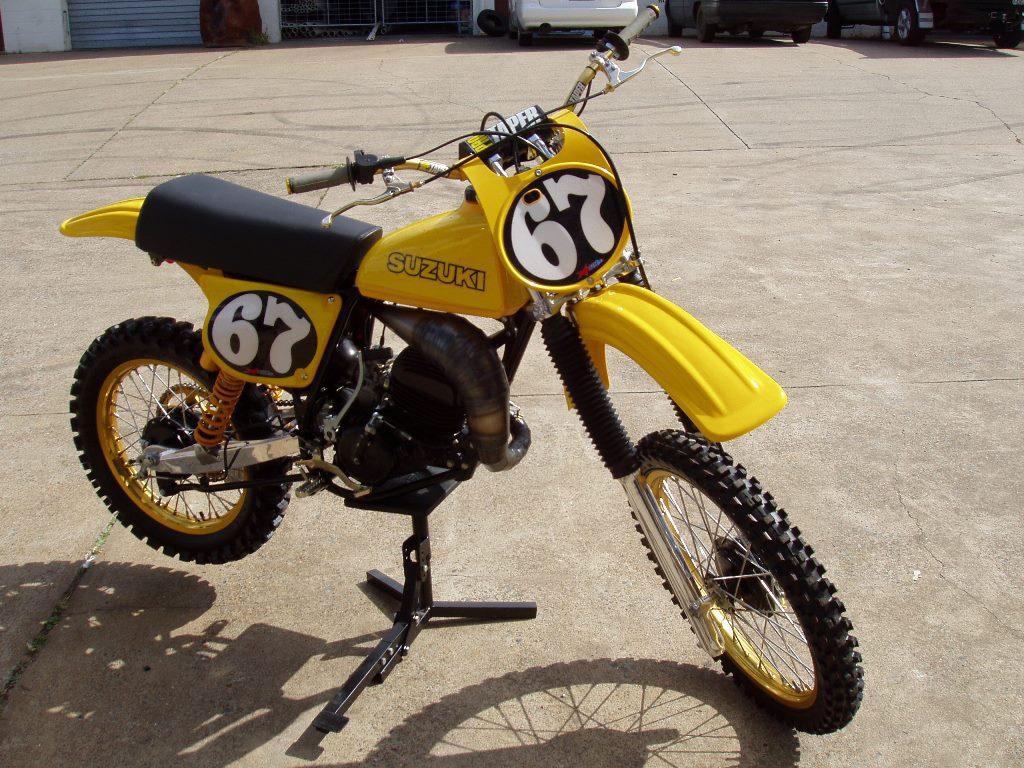 Vintage motocross number plate graphics - Vintage Bikes 6