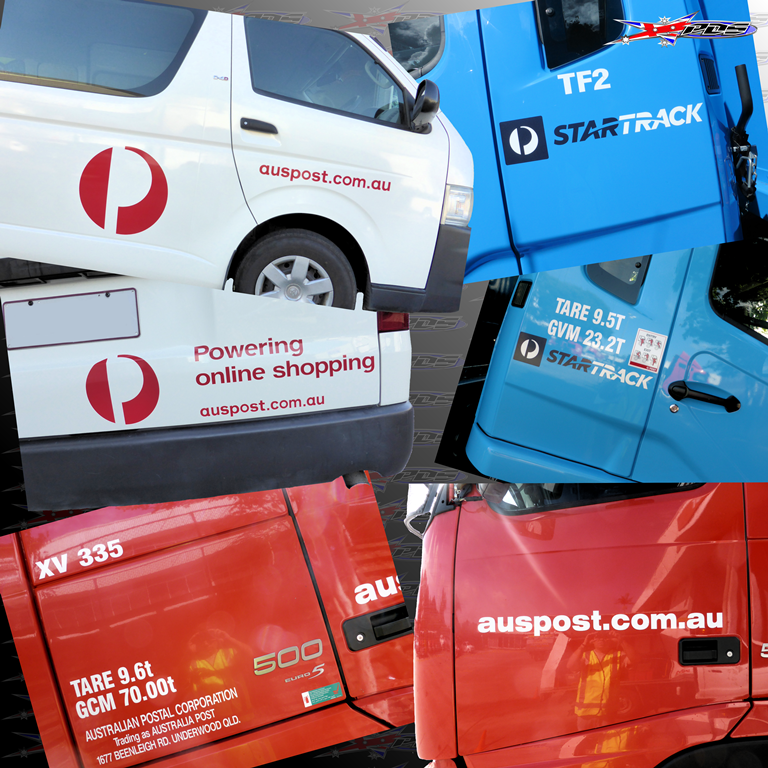 Australia Post & Star Track Fleet Decals - Performance Decals & Signage